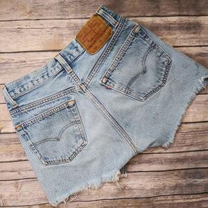 LEVIS Cut off shorts Button Fly Shorts 30 waist